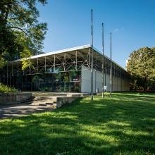 Photo Außenansicht des Hörsaalprovisoriums