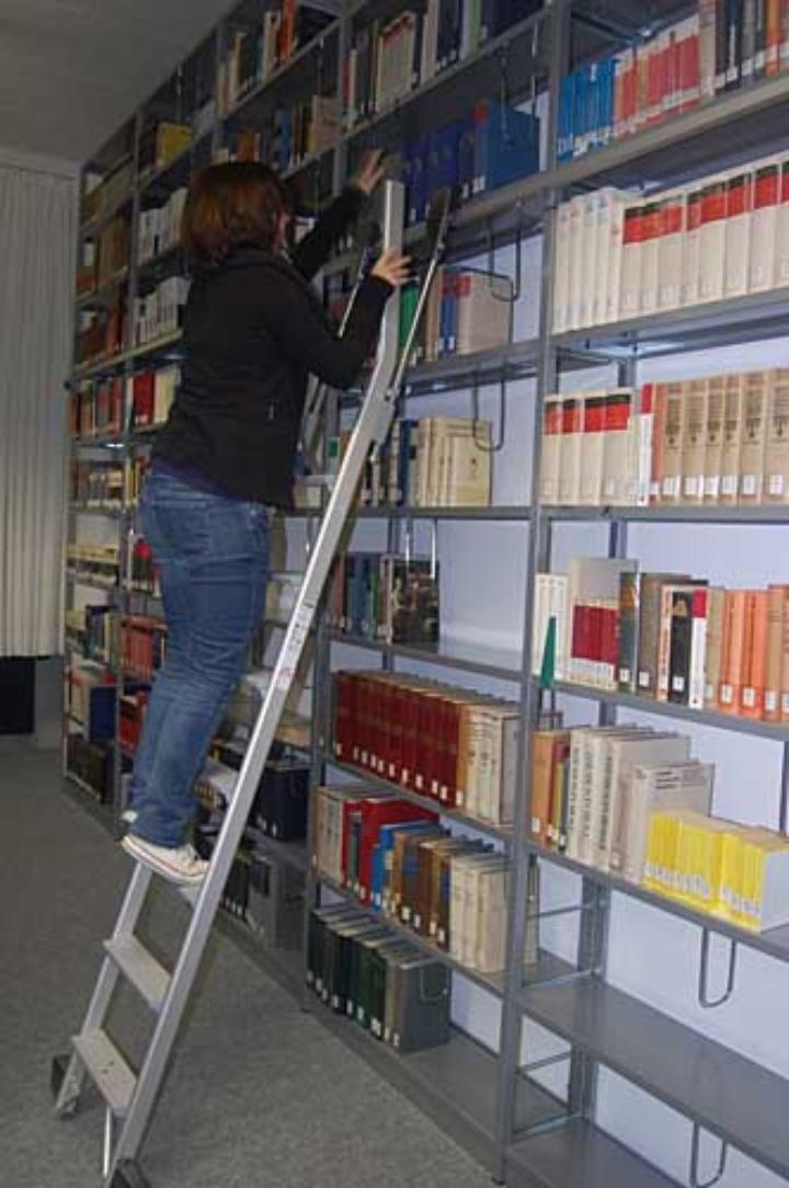 Photo: Blick in die Institutsbibliothek.