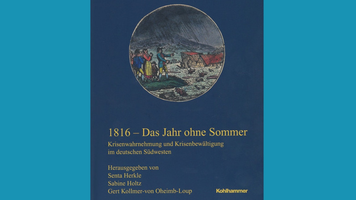 1816 - Das Jahr ohne Sommer. Titelblatt der Buchhandelsausgabe. (c) Kohlhammer Verlag, Stuttgart.