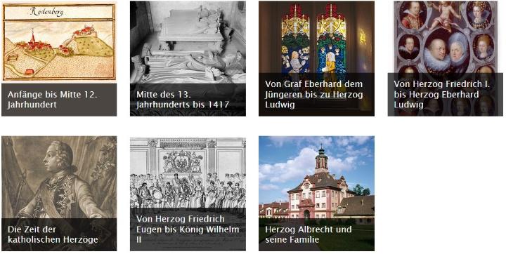 Biographisches Lexikon des Hauses Württemberg (Eingangsseite auf LEO-BW).