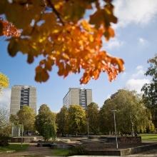 Campus Stadtmitte im Herbst.