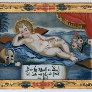Hinterglasbild Jesus als neuer Adam