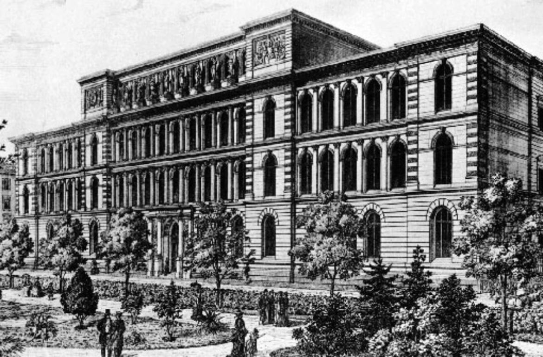 Polytechnische Schule in Stuttgart (um 1870). (c) Archiv der Universität Stuttgart