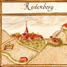 Die Stammburg der Württemberger auf dem Rotenberg, Kiesersches Forstlagerbuch, um 1685