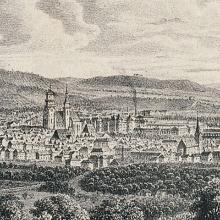 Historische Ansicht der Stadt Stuttgart