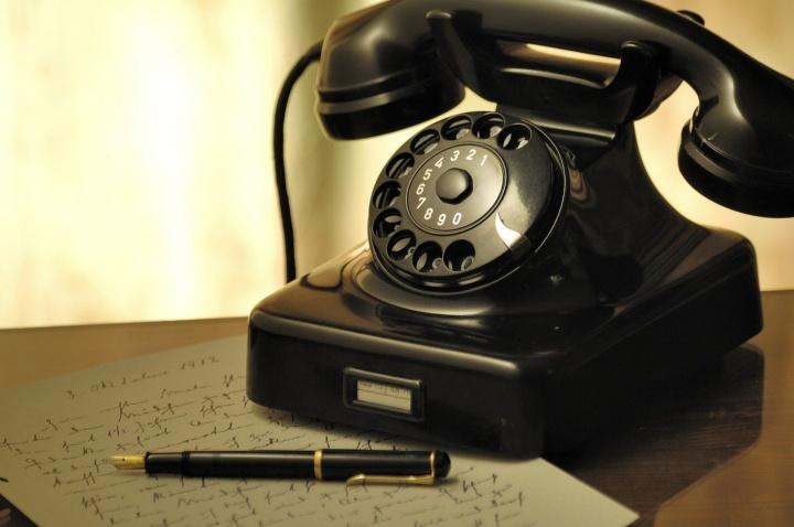 Photo eines alten Telephonapparats