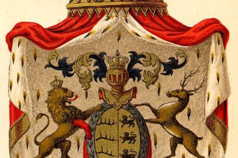 Wappen des Königreichs Württemberg von 1844.