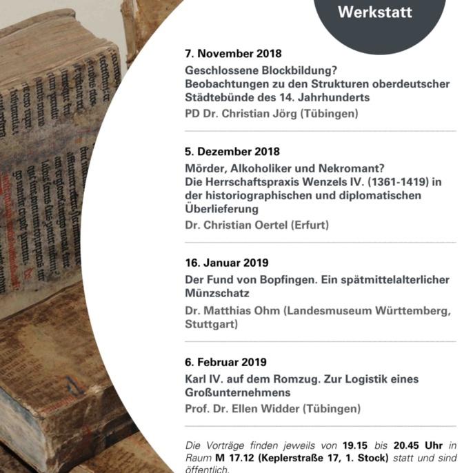 7. Stuttgarter Mittelalterwerkstatt WS 2018-19