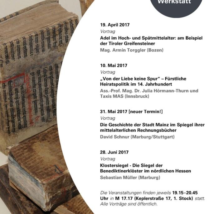 4. Stuttgarter Mittelalterwerkstatt SS 2017